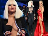 Rita Ora leaves little to the imagination in three barely there outfits as she leads the British invasion at the MTV VMAs