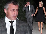 Long night? Matt LeBlanc puffs on a cigarette as he arrives at WME Emmy party with girlfriend Andrea Anders