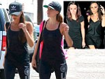 Victoria Beckham and Tana Ramsay this weekend and in 2010 (inset)