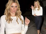 'I'm the pseudo hostess': Brandi Glanville finds one night employment at Craig's Restaurant in Los Angeles