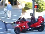 Watch the moment Justin Bieber nearly hits a disabled woman and two children while illegally driving down Beverly Hills sidewalk