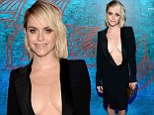 Pennsatucky takes the plunge! Orange Is The New Black's Taryn Manning has all eyes on her in VERY low-cut dress at Emmy bash