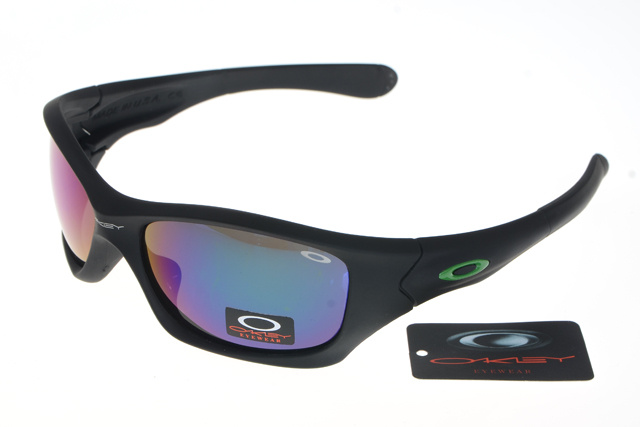 Wholesale Oakley Pit Bull Sunglasses Multicolor Lens Black Frame