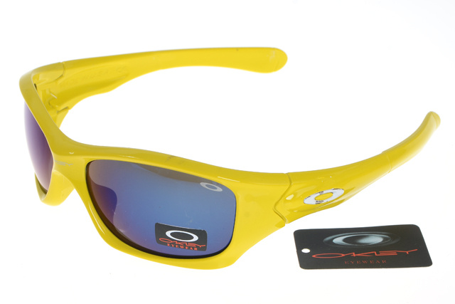 Wholesale Oakley Pit Bull Sunglasses Grey Lens Yellow Frame On S