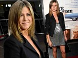 Jennifer Aniston dazzles in low-cut shimmering dress at the Los Angeles premiere of new film Life Of Crime