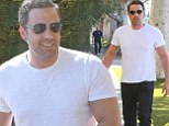 Ben Affleck, 42, shows off his muscular physique from his role as Batman in upcoming film while arriving to a business meeting in Beverly Hills