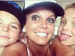'Hi!': Britney Spears poses for smiley selfie with her two sons on Instagram
