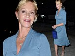 She looks tasty! Melanie Griffith showcases her figure in flattering blue gown as she heads to dinner in Los Angeles