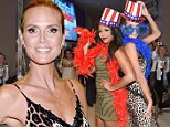 They've got talent! Heidi Klum and Mel B don matching American flag top hats as they attend AGT viewing party