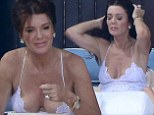 Lisa Vanderpump will turn 54 next month. But on Sunday it appeared the Real Housewives of Beverly Hills star had the confidence of someone 30 years younger. While on holiday in Los Cabos, Mexico with her husband Ken Todd, 69, and their daughter Pandora, 28, Lisa wore an extremely low-cut negligee while relaxing on the beach.