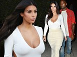 She's heaven-sent! Kim Kardashian is angelic in white at Hollywood studio before enjoying romantic dinner with husband Kanye West