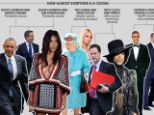 The big link-up: Research has shown that we are all related, as these celebrity connections show