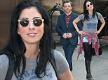 Going strong: After attending the Emmys together, Sarah Silverman and her beau Michael Sheen were seen leaving their hotel in New York City together Wednesday