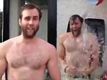 Keeping his cool! Harry Potter actor Matthew Lewis takes the ice bucket challenge while sitting in a garbage bin