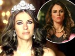"""26 August 2014 - Los Angeles - USA  **** STRICTLY NOT AVAILABLE FOR USA ***  Elizabeth Hurley plays Queen in new E! Drama titled The Royals. The Brit takes the lead role in the upcoming show, which is E! Entertainment's first ever scripted show. E! describes The Royals as: """"a drama about a fictional British Royal family set in modern day London, who inhabit a world of opulence and regal tradition that caters to any and every desire, but one that also comes with a price tag of duty, destiny and intense public scrutiny."""" In the one minute trailer, Hurley provides the voiceover as several things happen to her family. She tells viewers:"""" Let me recap my week for you. My daughter's vagina was on the cover of four tabloids, my son is dating his employee and mu husband has the weight of the world on his shoulders. In case you've forgotten, we are not a normal family."""" The trailer shows the daughter Preincess Eleanor at a nightcub, drunk and dancing on a table before falling off and showing h"""