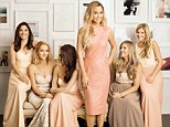**MUST LINK IN COPY** http://www.marthastewartweddings.com/372144/bride-to-be-lauren-conrad-on-styling-her-bridesmaids **MUST INCLUDE COVER** **MUST MENTION: please tell your readers that they can check out the full story in the Fall 2014 issue of Martha Stewart Weddings, which hits newsstands September 1st.     Lauren and five of her nine bridesmaids in the dresses