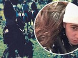 Enjoying the outdoors: Justin Bieber shared pictures of him and Selena Gomez horseback riding on Instagram Thursday