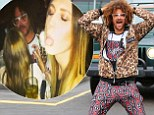 Redfoo was quick to respond to the incident on Twitter, writing at 1.42am: 'Jealousy is a hell of a drug!'