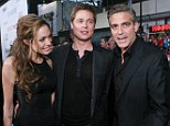 'How great is that?' George Clooney gushes that he is 'really happy' close friend Brad Pitt has married Angelina Jolie