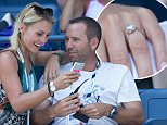 27.AUGUST.2014 - NEW YORK - USA PROFESSIONAL GOLFER FROM SPAIN SERGIO GARCIA WITH GERMAN GIRLFRIEND KATHARINA BOEHM WHO WAS SPOTTED WEARING WHAT APPEARS TO BE A ENGAGEMENT RING ON ARTHUR ASHE STADIUM ON DAY THREE OF THE 2014 US OPEN AT THE USTA BILLIE JEAN KING NATIONAL TENNIS CENTER IN THE FLUSHING NEIGHBOURHOOD OF THE QUEENS BOROUGH OF NEW YORK CITY. BYLINE MUST READ : XPOSUREPHOTOS.COM *AVAILABLE FOR UK SALE ONLY* ***UK CLIENTS - PICTURES CONTAINING CHILDREN PLEASE PIXELATE FACE PRIOR TO PUBLICATION *** *UK CLIENTS MUST CALL PRIOR TO TV OR ONLINE USAGE PLEASE TELEPHONE 0208 344 2007*