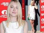 Decked out Dakota! Fanning shows off long legs in Miu Miu mini dress at Venice Film Festival