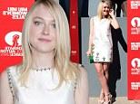 Decked out Dakota! Fanning shows off long legs in Miu Miu mini dress at Venice Film Festival