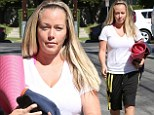 In need of a little Namaste? Barefaced Kendra Wilkinson heads to yoga class in Los Angeles amid marriage troubles with husband Hank Baskett
