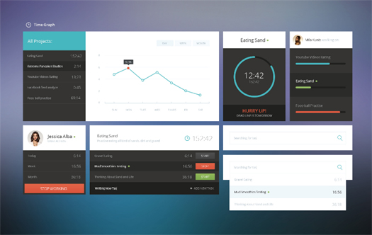 Free PSD Time Graph UI