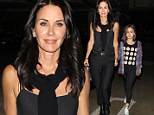 Coolest mom ever! Courteney Cox gussies up in black camisole and trousers to treat her daughter Coco to Ed Sheeran concert
