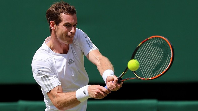 Andy Murray, pictured, was not troubled by Matthias Bachinger in windy New York
