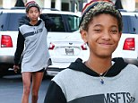 Supportive sister Willow Smith wears baggy hoodie from Jaden's clothing line for lunch outing