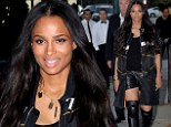 Newly single Ciara struts through Beverly Hills in Givenchy leather shorts and Chanel boots featuring knee-pads