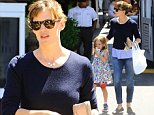 Picture Shows: Seraphina Affleck, Jennifer Garner  August 28, 2014    Busy mom and actress Jennifer Garner stops for ice cream with her daughter Seraphina at the Brentwood Country Mart in Brentwood, California. Jennifer's next film 'Men, Women, & Children' is set to be released on October 17.     Non Exclusive  UK RIGHTS ONLY    Pictures by : FameFlynet UK    2014  Tel : +44 (0)20 3551 5049  Email : info@fameflynet.uk.com