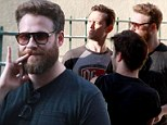 Seth Rogen sports a grizzly ginger beard as he reunites with Joseph Gordon Levitt for new movie