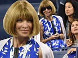 Anna Wintour cracks a rare smile as she hits up the US Open with Vera Wang