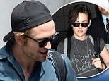 Still in sync! Former couple Robert Pattinson and Kristen Stewart step out in complimentary ensembles... while miles apart