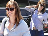 She tried! Jennifer Garner accidentally flashes tum in violet blouse as she steps out in Brentwood