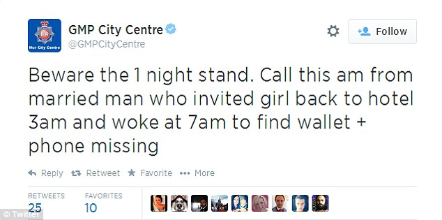 Greater Manchester Police warned people about the dangers of a one-night stand after a man was robbed