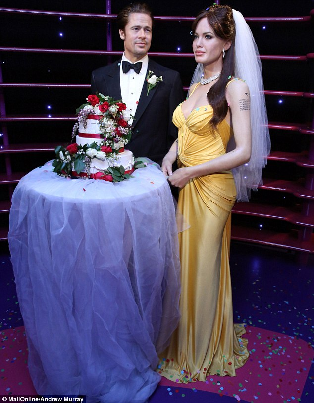 Wax wedding! Madame Tussauds wax museum in Sydney has paid tribute to Brad Pitt and Angelina Jolie's wedding by recreating the momentous occasion in wax on Friday