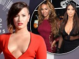 Body trailblazers! Demi Lovato credits Kim Kardashian and Beyoncé with 'revolutionising our generation's view of what beautiful is'