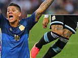 Marcos Rojo of Argentina  It is reported that Marcos Rojo will be joining Manchester United