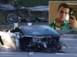 Crash: After the crash which claimed Samuel Shepard's life, the high powered sport's car looks mangled