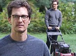 Matthew McConaughey ditches his sleek style for unkempt hair, a five o'clock shadow and glasses as he shoots lawn-mowing scene for new film