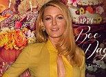 Busy little bee: Blake Lively shared a stinging encounter with a swarm of angry bees on her lifestyle website