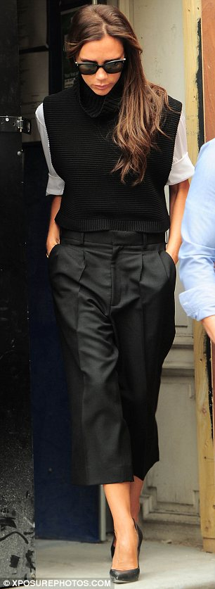 Overseeing everything: The fashion designer was seen leaving the Dover Street store after her visit
