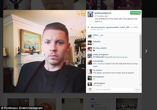 Joker? Professor Green first hinted that he was making a reality show with his ex-Made In Chelsea star wife, but later revealed they were shooting an advert