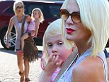 Tori Spelling took her youngest daughter out for some mother-daughter bonding time on Thursday. The 41-year-old Beverly Hills, 90210 actress and her two-year-old daughter Hattie were spotted out in Malibu.