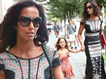 It's all in the genes! Padma Lakshmi and four-year-old daughter Krishna don pretty printed dresses as they stroll hand-in-hand through New York