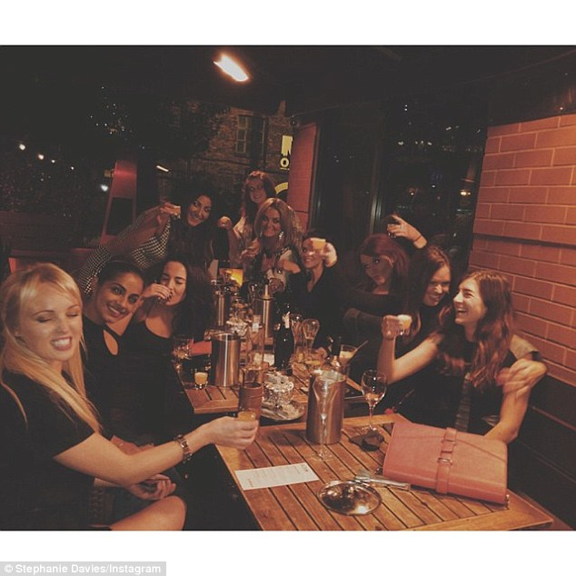 What a shot: The girls uploaded a snap to Instagram of them enjoying shots outside a bar