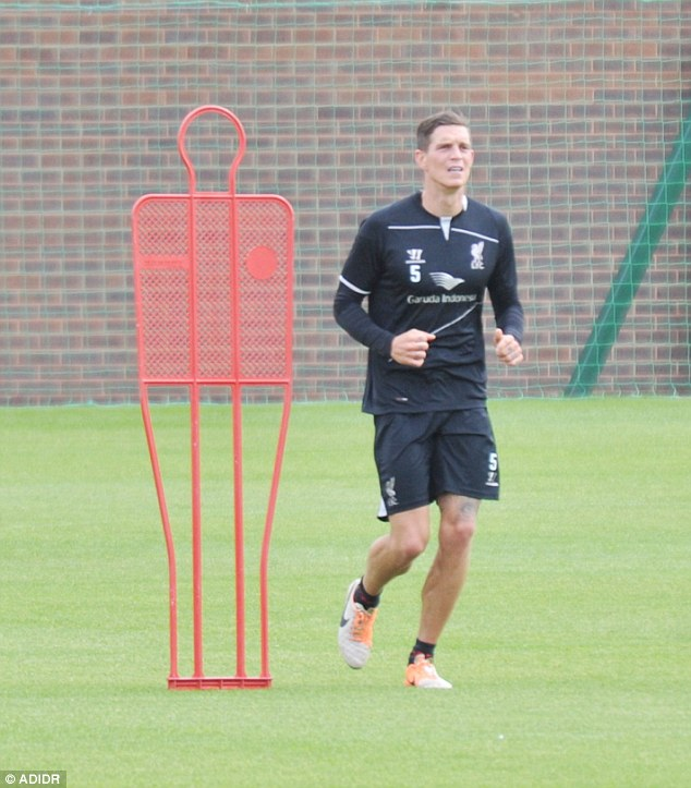 On the move: Defender Daniel Agger hasn't played for Liverpool this season and is looking for a move away